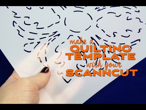 scanncut technique creating a quilting stencil or template youtube