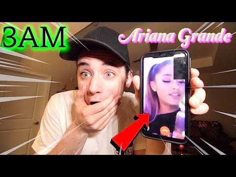 (Insane) CALLING The Real Ariana Grande on FaceTime at 3AM! (She Got Mad)
