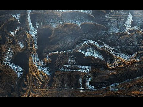 Skyrim: Храм Небесной Гавани. Стена Алдуина.
