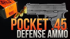 Pocket .45 Defense Ammo: .45 Auto HSM 200gr Unicor Hollow Point Gel Test
