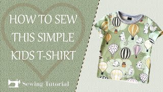 How to Sew a T-shirt for kids   Tutorial    DIY   Free pattern