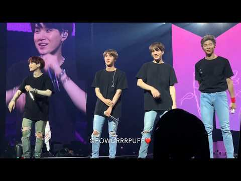 180929 - Final Ment - BTS 방탄소년단 - Love Yourself Tour Newark - 4K HD FANCAM 직캠