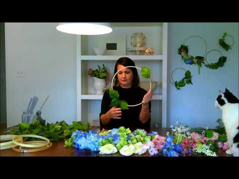 DIY Embroidery Hoop Wreath Backdrop Display Wedding Decor Easy/Affordable