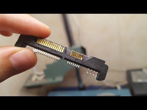 Простой ремонт жесткого диска. Замена панели разъемов.