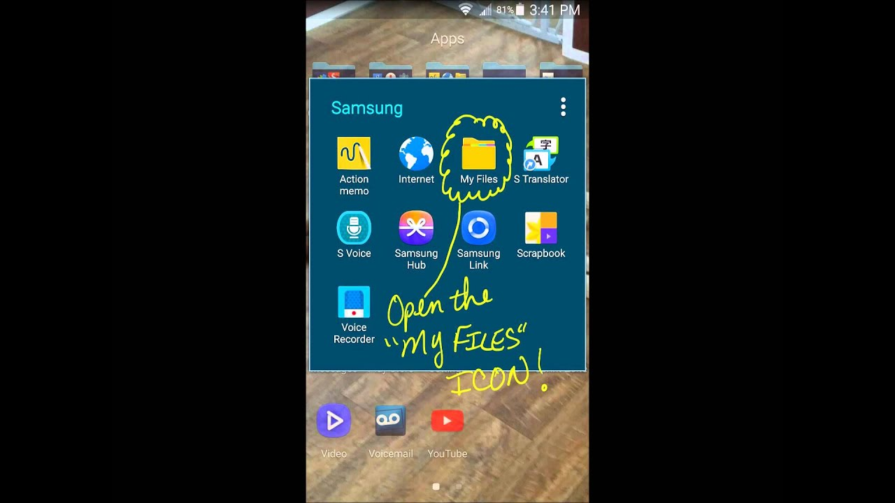 Quick  How To Delete Manage Files Samsung Galaxy Note 4 3 2 1