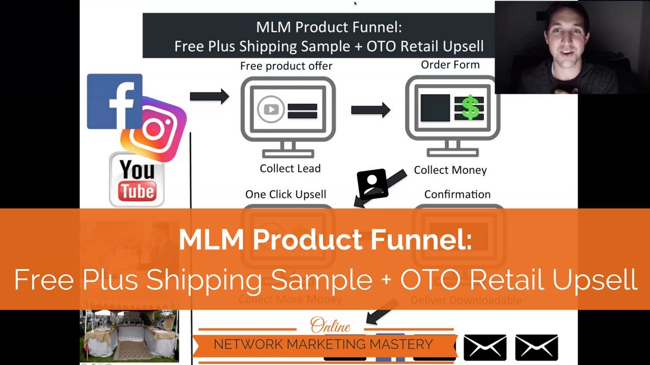 Clickfunnels MLM Product Funnel For Network Marketing - Sample Free Plus Shipping Offer