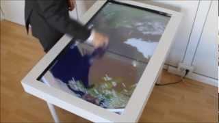 Интерактивный multitouch стол / Interactive multitouch table(Интерактивный стол -- поверхность, управляемая прикосновениями человека или объектов. Производится 2 типа..., 2013-02-27T19:55:53.000Z)