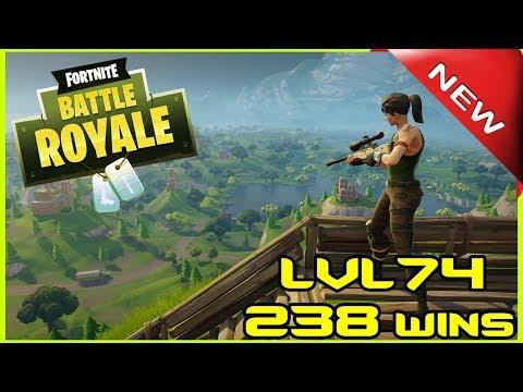 FORTNITE BATTLE ROYALE - LVL 74 - 238 WINS - LIVE - (PS4 PRO) Full HD