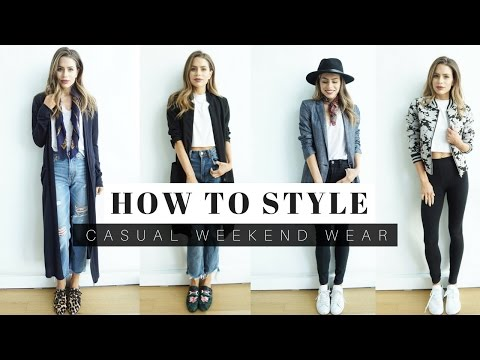 How To Style Casual Weekend Outfits + LOOK BOOK