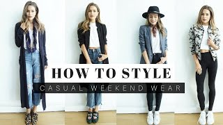 how to style casual weekend outfits look book