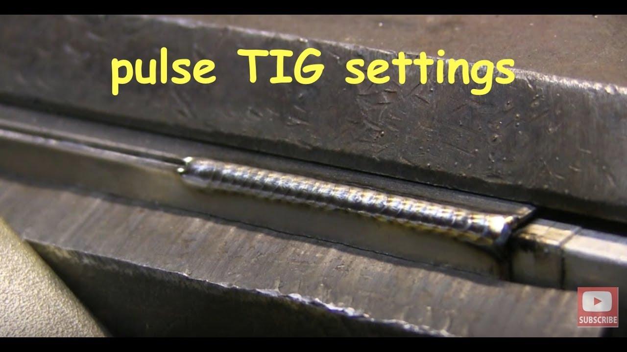 Pulse Tig Settings For Outside Corner Youtube