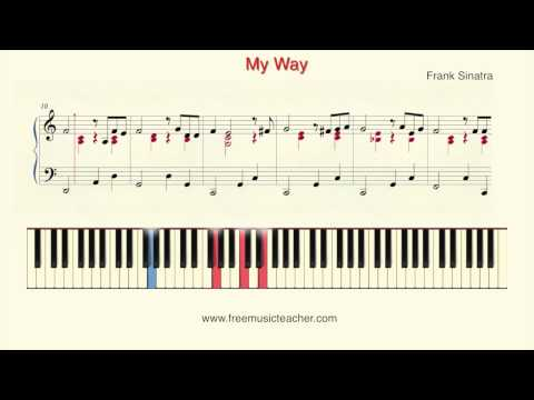 "How To Play Piano: Frank Sinatra ""My Way"" Piano Tutorial by Ramin Yousefi"