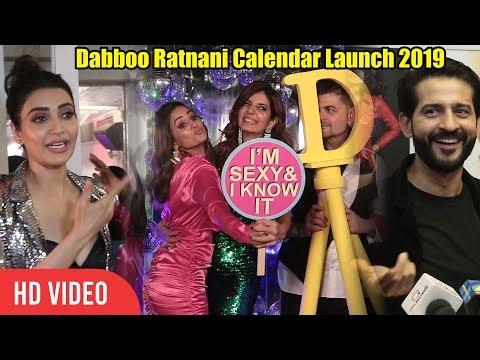 Hina Khan, Priyank Sharma, Hiten Tejwani At Dabboo Ratnani Calendar Launch 2019