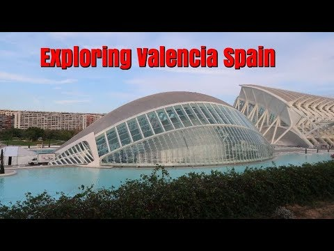 Taking a train to Valencia Spain. Checking out the Beach and a Professional Soccer Game.  Ep100.