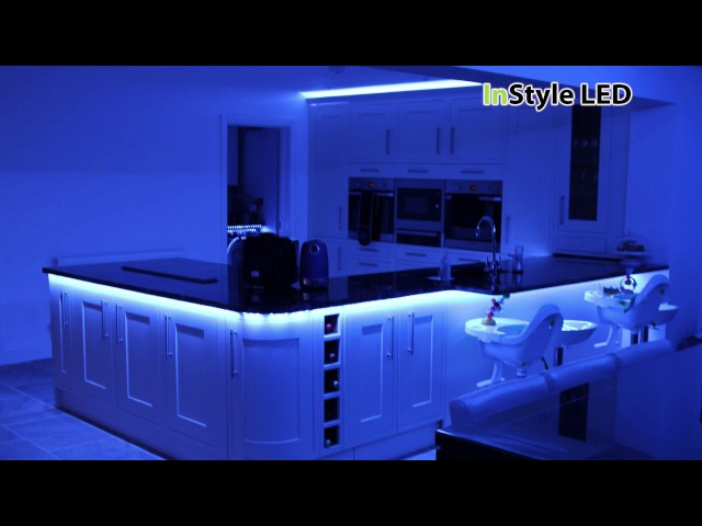 Kitchen & dining area with feature skylight - LED installation showreel