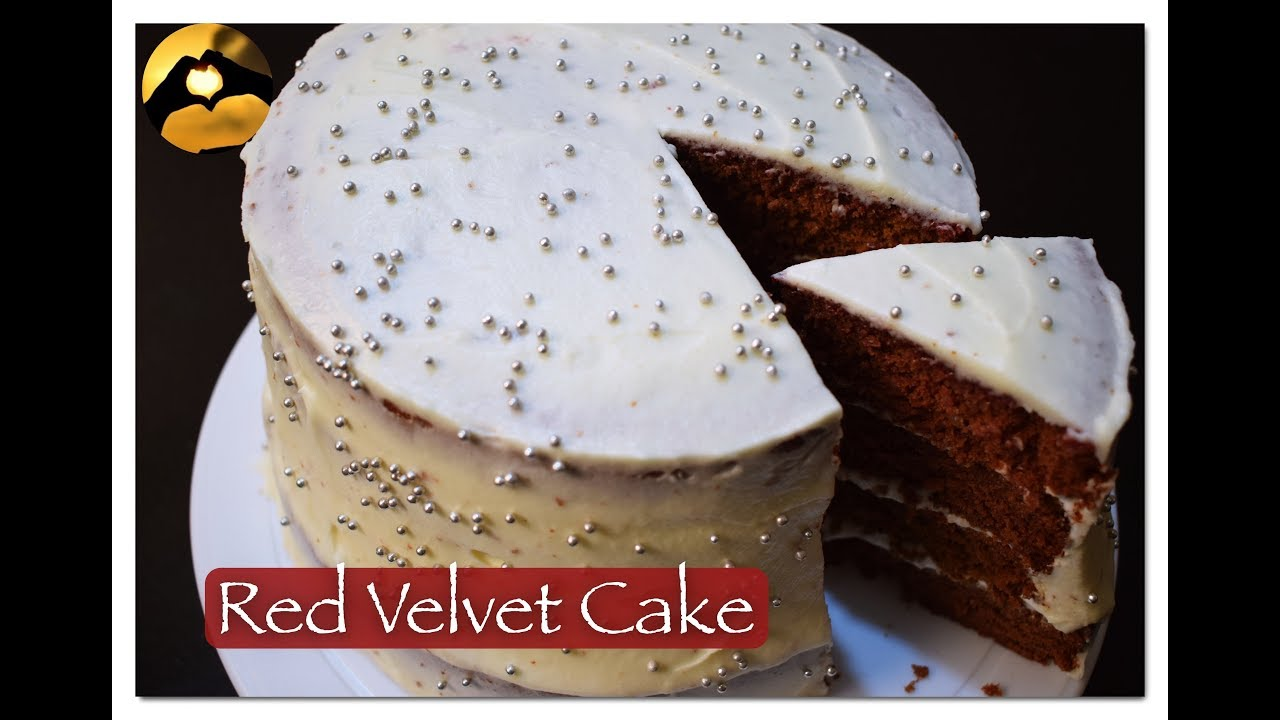 Eggless Natural Colour Red Velvet Cake Recipe in Hindi II Rasy ...