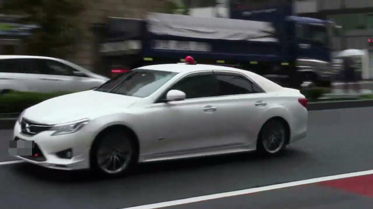 【警察】信号無視の黒いハッチバックを追う白い覆面パトカー