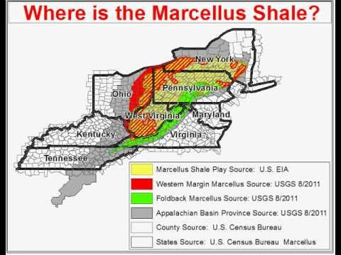 Marcellus Shale YouTube - Marcellus shale map