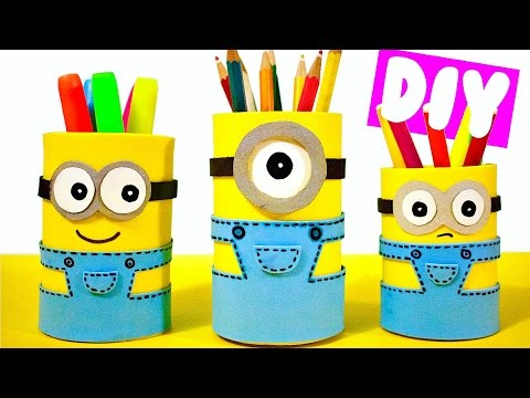 diy-school-supplies-for-back-to-school-|-easy-&-cute-minion-pencil-holders