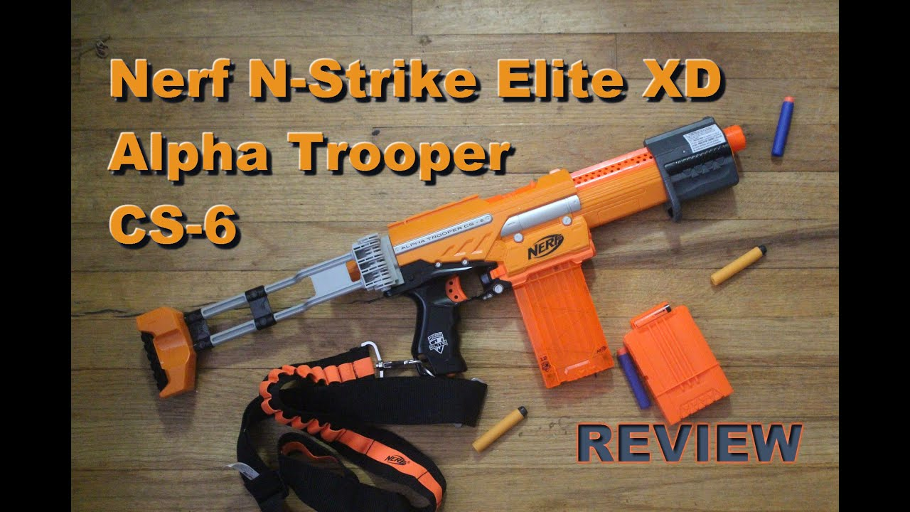 [REVIEW]NEW 2015 Nerf Elite Alpha Trooper Review Nerf Elite XD Alpha Trooper CS 6 Blaster Review