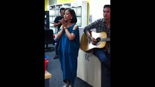 Astrid - tentang rasa akustik jamming with Stan / hot fm n tv 3 office - malaysia