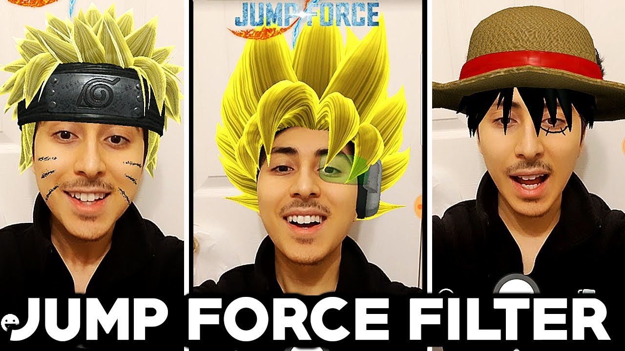 NEW FREE JUMP FORCE FACEBOOK FILTERS! New Goku, Naruto, & Luffy Face  Filters Facebook!