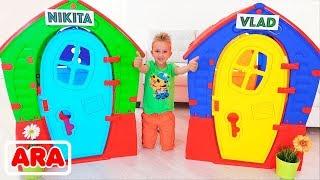 فلاد ونيكيتا بناء بيوت للأطفال