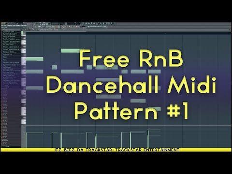 Free Midi #1    Dancehall RnB Melody   75bpm   C Minor