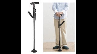Collapsible Telescopic Folding Walking Sticks magic Cane with LED light