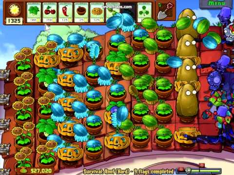 Plants Vs Zombies Survival Roof Hard Quot Probably The Best