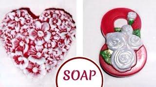 SOAP: цветочное сердце и восьмерка на 8 марта ✦ МЫЛОВАРЕНИЕ✦ мраморная заливка