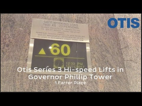 Otis Series 3 Hi-speed Traction Lifts In Governor Phillip Tower @ 1 Farrer Place