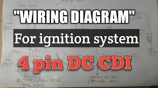 4pin dc cdi wiring diagram of ignition system - youtube  youtube