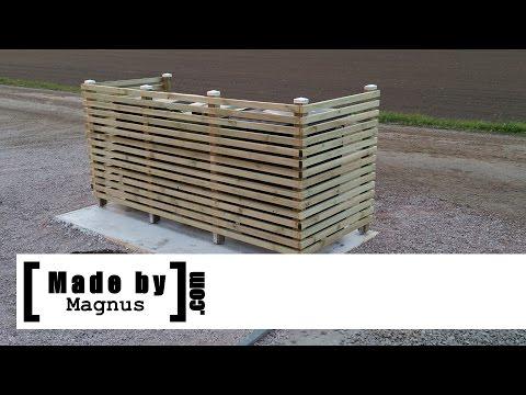 Garbage bin fence - Made by Magnus