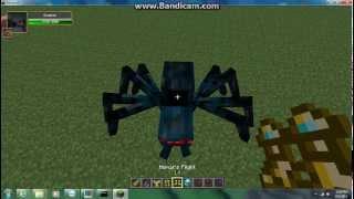 Minecraft mob battles fashoinable walker king vs. spider queen