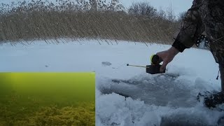 Зимняя Рыбалка С Электронной Удочкой | Ice Fishing with an ciber fishing-rod.