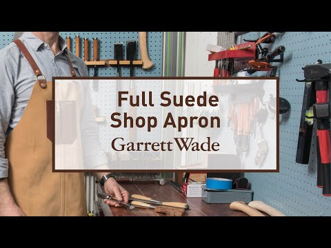 Suede Shop Apron Garrett Wade