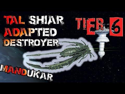 Tal Shiar Adapted Destroyer [T6] - Mandukar – with all ship visuals - Star Trek Online