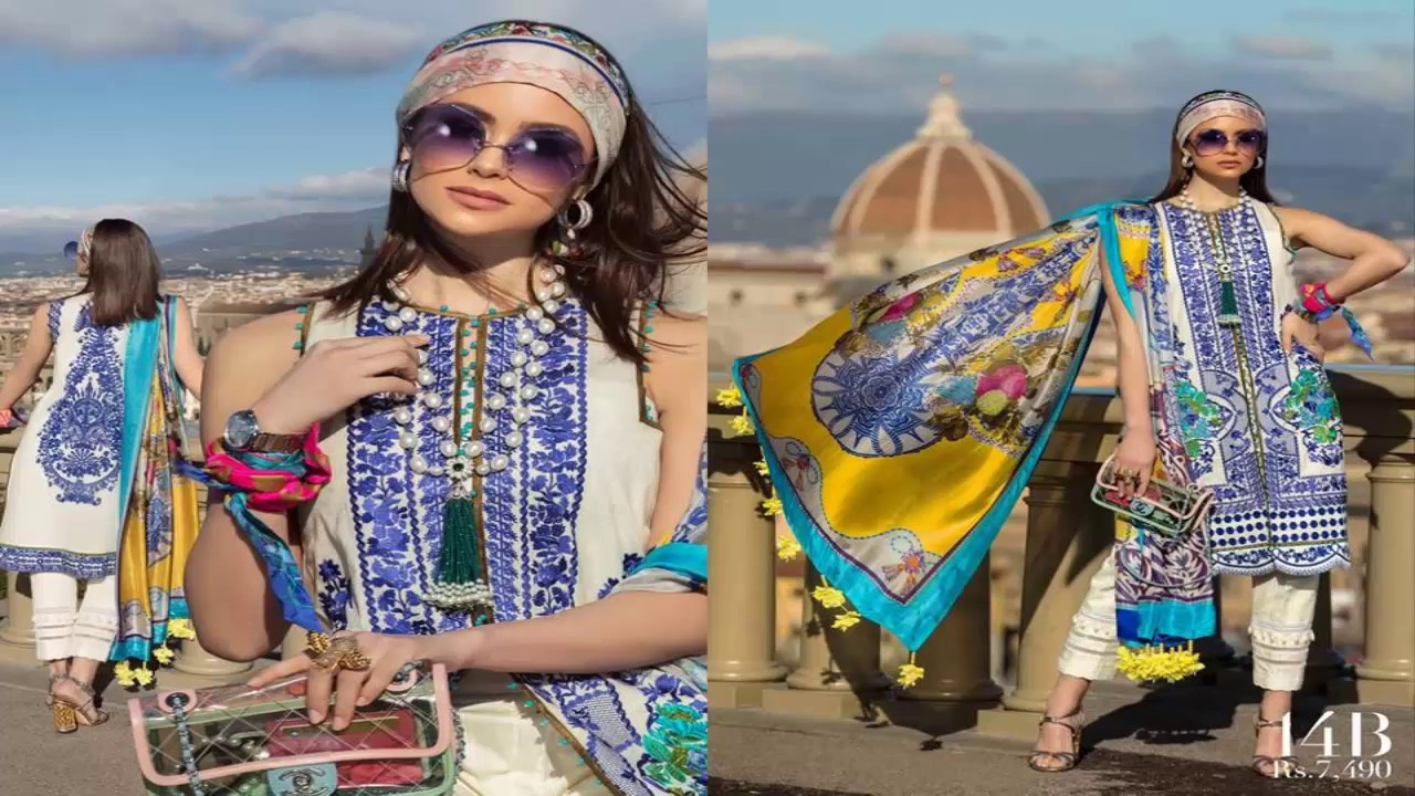 fd915688a1 Sana Safinaz Luxury Lawn 3 Piece Unstitched Collection 2019 - YouTube