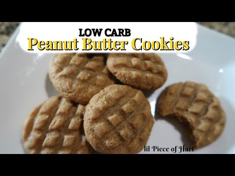 LOW CARB Peanut Butter Cookies | 3 Ingredients | Flourless