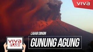NEKAT! Warga Rekam Video Lahar Dingin Gunung Agung