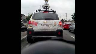 Carro do Google Maps Na Radial Leste Free HD Video