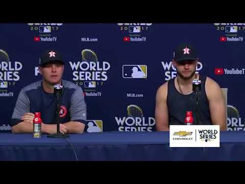 Lance McCullers and Brad Peacock Postgame Interview | Astros vs Dodgers World Series