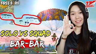 Bar-bar Solo Vs Squad - Free Fire Indonesia