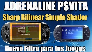 Adrenaline PSVITA Filtro Sharp bilinear simple shader