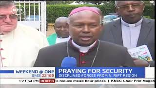 Special prayers for discipline forces underway at Eldoret cathedral