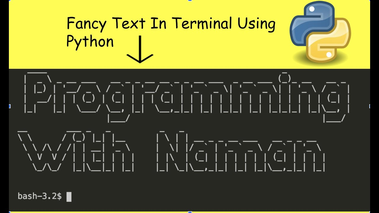 Fancy Text In Terminal Using Python