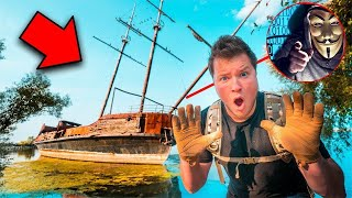 FOUND THE GAME MASTERS HIDEOUT! ABANDONED PIRATE SHIPWRECK thumbnail