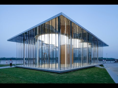 Schmidt Hammer Lassen Architects Design Floating | Cloud Pavilion | on Shanghai's Waterfront | HD