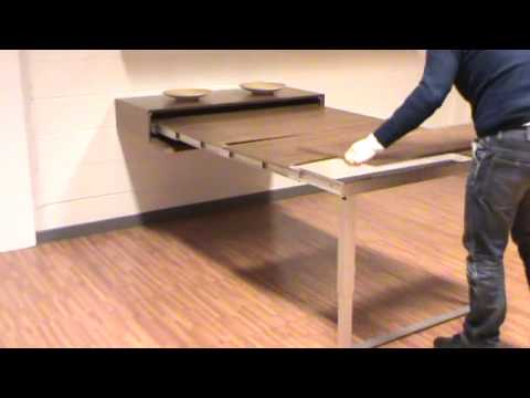 Transformable mensola party youtube for Table transformable